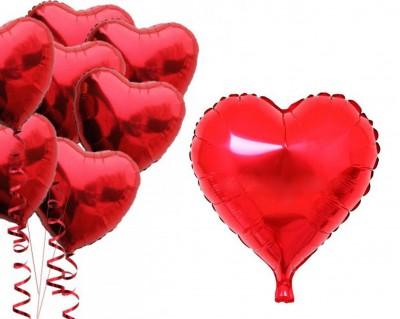 Diğer - Kalpli Folyo Balon Kırmızı
