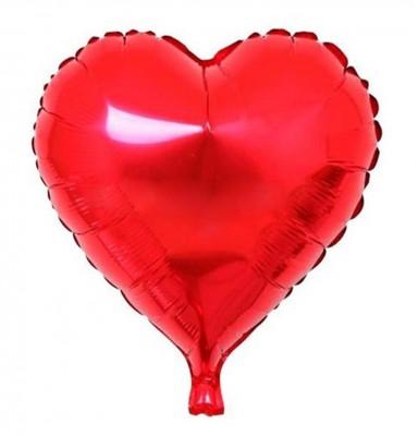 Kalpli Folyo Balon Kırmızı - Thumbnail