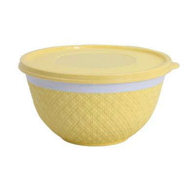 Kapaklı Mini Plastik Sümbül Kase Sarı - Thumbnail
