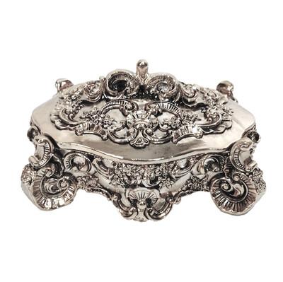 Diğer - Kaplama Dekoratif Takı Kutusu Gümüş