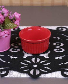 Karışık Renkli 6lı Seramik Mini Sufle Kabı