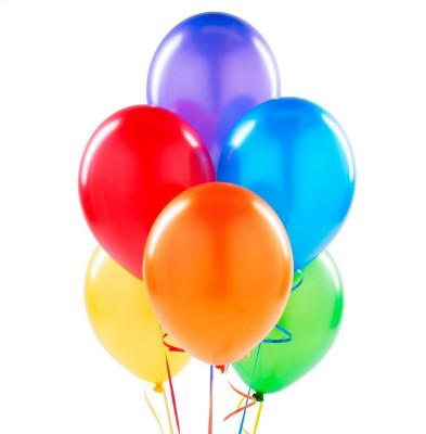 Diğer - Karışık Renkli Metalik Süsleme ve Parti Balonu 20li