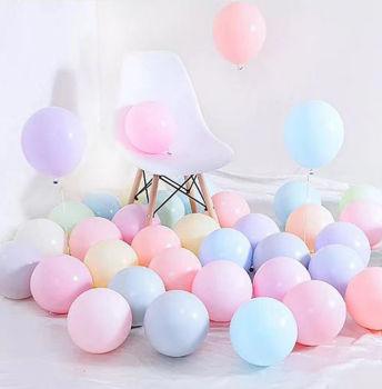 Karışık Renkli Metalik Süsleme ve Parti Balonu 20li