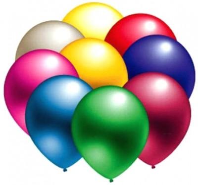 Diğer - Karışık Renkli Metalik Süsleme ve Parti Balonu 100lü
