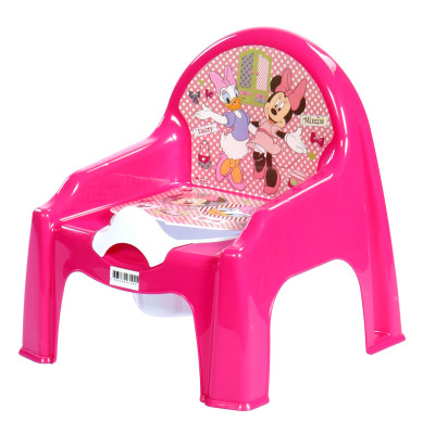 Diğer - Karışık Renkli Minnie Mouse Baskılı Kapaklı Lazımlık