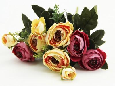 Diğer - Karışık Renkli Yapay Çiçek Gül Demeti
