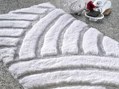 Confetti - Karya Simli Banyo Halısı Karbeyaz 60x100cm
