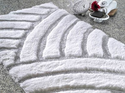 Confetti - Karya Simli Banyo Halısı Karbeyaz 70x120cm
