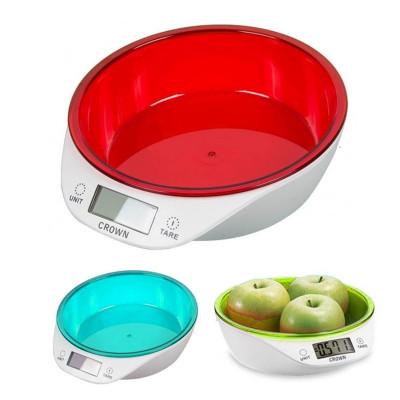 Diğer - Kaseli Hassas Dijital Mutfak Tartısı 5kg Kapasiteli