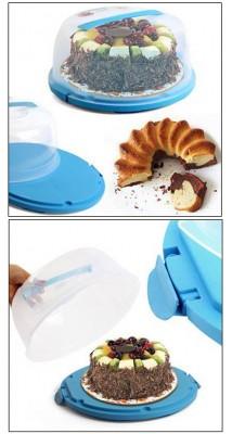 Kilitli Kapaklı Pasta ve Kek Fanusu - Thumbnail
