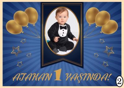 Kişiye Özel Tasarım Yapışkanlı Doğum Günü Afişi 50x70cm - Thumbnail