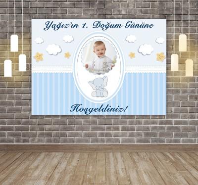Diğer - Kişiye Özel Tasarım Yapışkanlı Doğum Günü Afişi 50x70cm