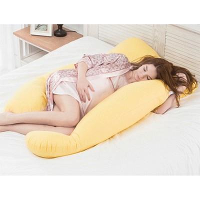 Diğer - Konforlu Bölge Destekli Hamile Uyku ve Emzirme Yastığı Sarı