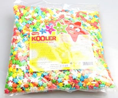 Diğer - Kooler Yıldız Şeklinde Karışık Renkli Draje Şeker 1kg.