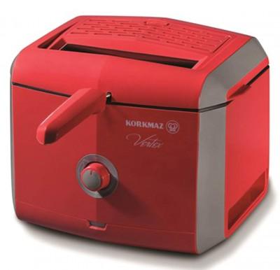 Korkmaz - Korkmaz Vertex Fritöz Kızartma Makinesi Kırmızı