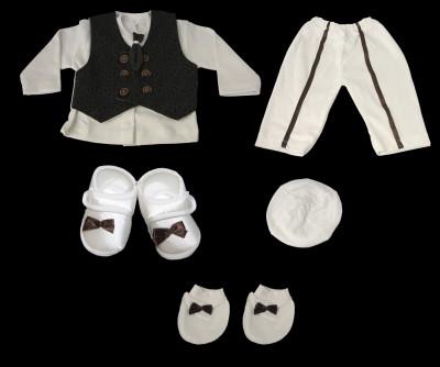 Kravatlı Erkek Bebek Mevlüt Takımı 0-6ay - Thumbnail