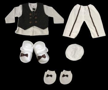 Kravatlı Erkek Bebek Mevlüt Takımı 0-6ay