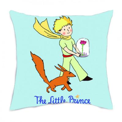 Diğer - Küçük Prens ve Tilki Tasarımlı Kırlent Yastık 35cm
