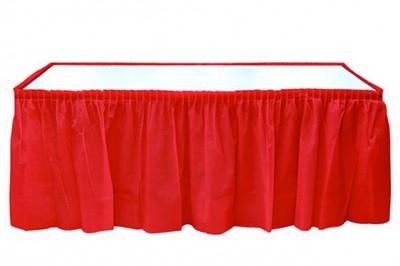 Diğer - Kullan At Parti Masa Eteği Kırmızı