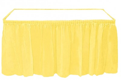 Diğer - Kullan At Parti Masa Eteği Sarı
