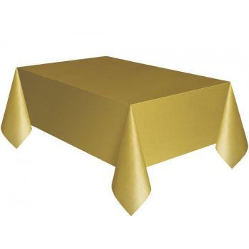 Kullan At Parti ve Kutlama Masa Örtüsü Düz Renk Gold 120x180cm
