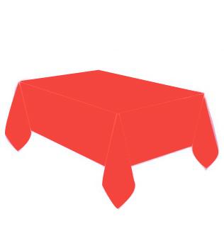 Diğer - Kullan At Parti ve Kutlama Masa Örtüsü Düz Renk Kırmızı 137x274cm