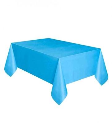 Diğer - Kullan At Parti ve Kutlama Masa Örtüsü Düz Renk Mavi 120x180cm