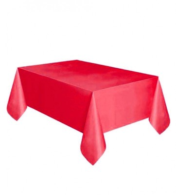 Diğer - Kullan At Parti ve Kutlama Masa Örtüsü Düz Renk Kırmızı 120x180cm