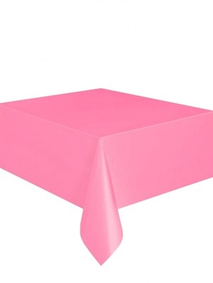 Kullan At Parti ve Kutlama Masa Örtüsü Düz Renk Pembe 120x180cm - Thumbnail
