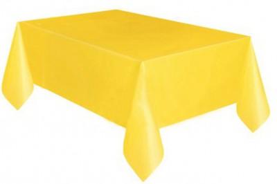 Diğer - Kullan At Parti ve Kutlama Masa Örtüsü Düz Renk Sarı 120x180cm