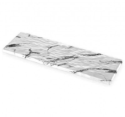 Külsan - Külsan Thermoset Mermer Tasarımlı Sunum Panosu 53cm Beyaz