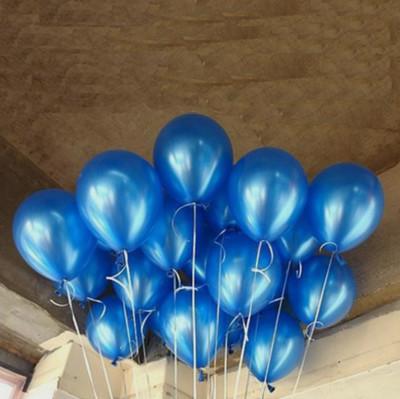 Diğer - Lacivert Renkli Metalik Süsleme ve Parti Balonu 20li