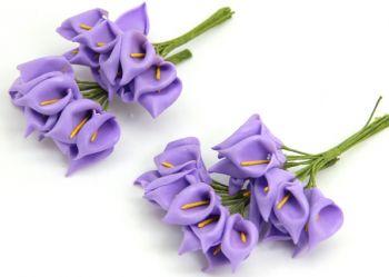 Lateks Çiçek Lale 100 Adet Mor-Sarı