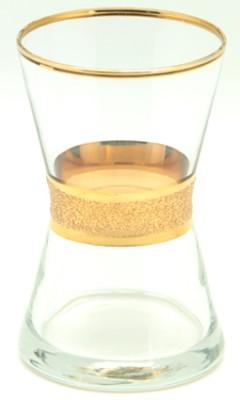 Lav - Lav Derin Yaldız Boyalı 6lı Çay Bardağı
