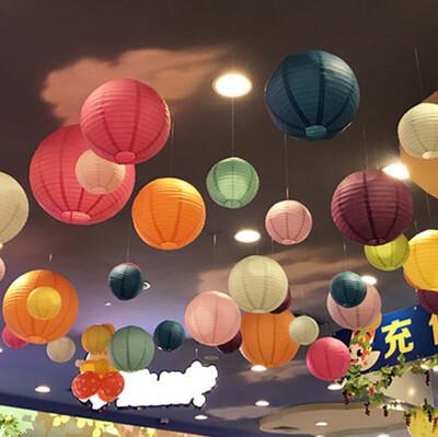 Led Işıklı Kağıt Akordeon Süs Japon Feneri Pembe - Thumbnail