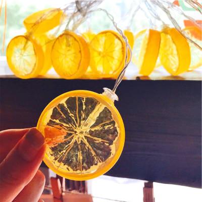 Diğer - Limon Dilimi Tasarımlı 10lu Led Dekor Işığı 1.5 Metre