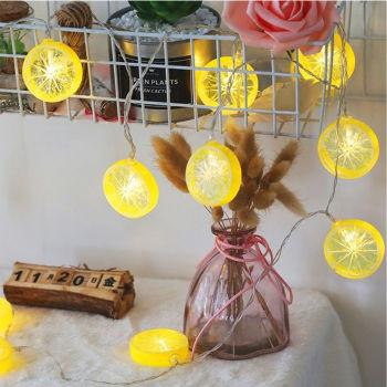 Limon Dilimi Tasarımlı 10lu Led Dekor Işığı 1.5 Metre