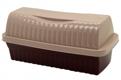 Lüx Çift Renkli Plastik Tost Ekmeği Kutusu - Thumbnail