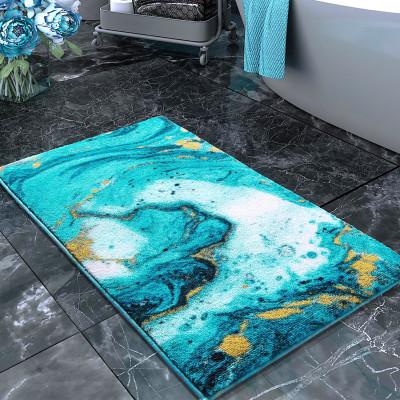 Confetti - Marbling Turkuaz Banyo Halısı 57x100cm