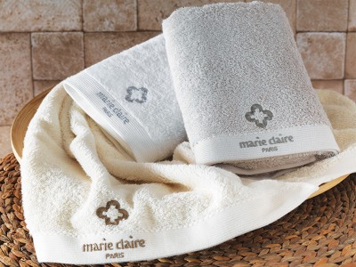 Marie Claire - Marie Claire Basic Banyo Havlusu Beyaz 70x140