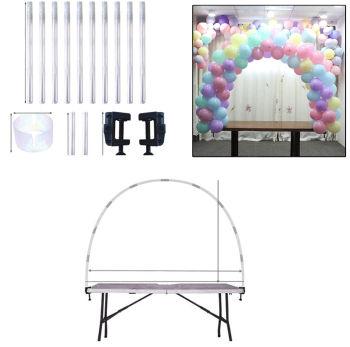 Masa Üstü Yarım Ay Balon Çemberi Standı