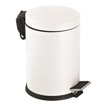Metal Pedallı 5 Lt Çöp Kovası Beyaz