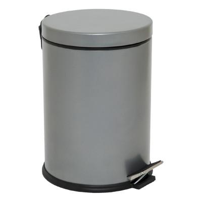 Diğer - Metal Pedallı 5 Lt Çöp Kovası Gri