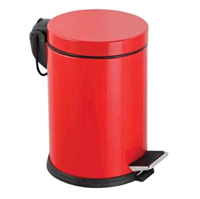 Diğer - Metal Pedallı 5 Lt Çöp Kovası Kırmızı