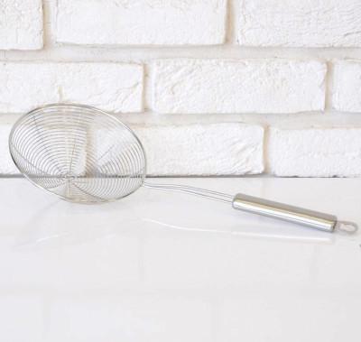 Metal Tel Kızartma ve Haşlama Kevgiri 16cm - Thumbnail