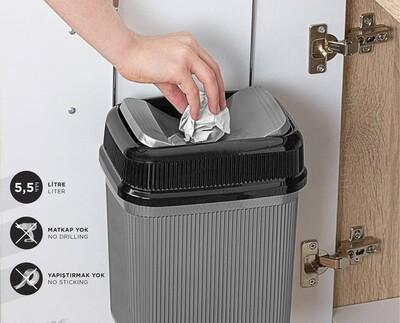 Metalife Askılı Çöp Kovası 5,5 Litre - Thumbnail