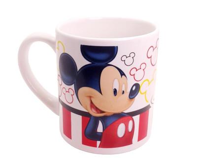 Diğer - Mickey Mouse Desenli Çift Taraflı Porselen Kupa Bardak