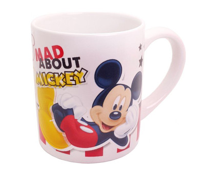 Mickey Mouse Desenli Çift Taraflı Porselen Kupa Bardak - Thumbnail