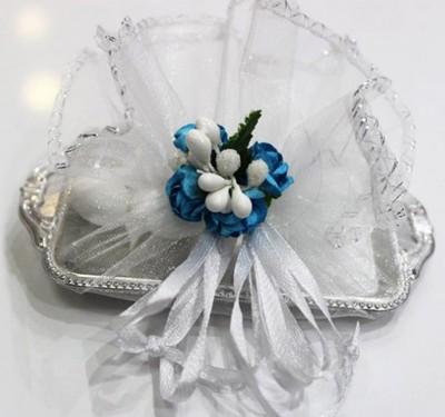 Diğer - Mini Tepside Süslemeli Hazır Nikah ve Nişan Şekeri