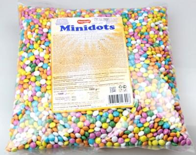 Diğer - Minidots Renkli Yuvarlak Sütlü Kokolin Draje Şeker 1kg
